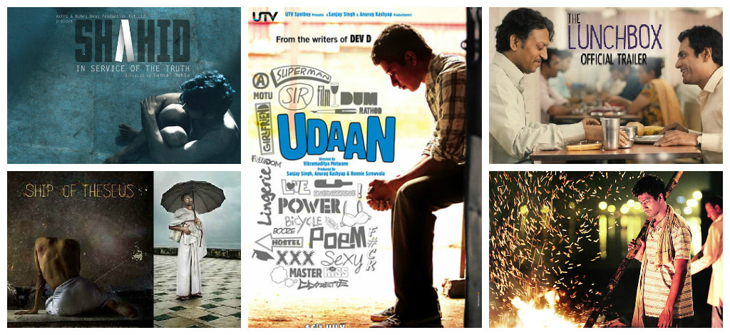 The Lunchbox,Ship of Theseus,BA Pass,Udaan,Shahid